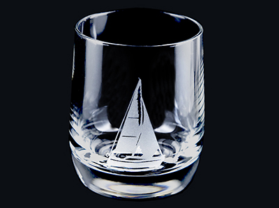 Whiskyglas Segelboot