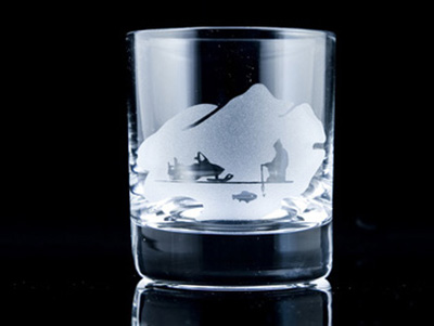 Whisky glass Ice Fishing